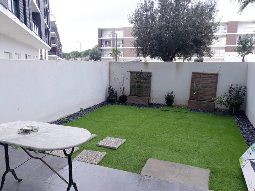 Pigassou Immobilier - T2 rez de chaussé dans résidence récente avec jardin
