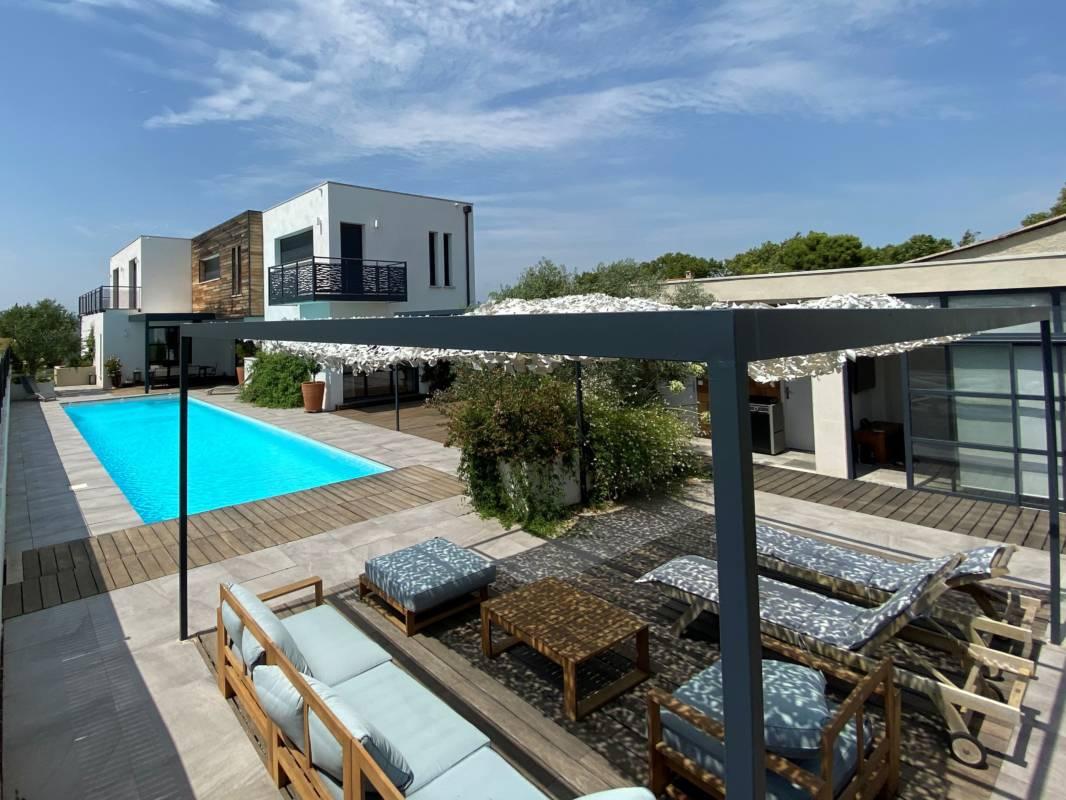 Pigassou Immobilier Galerie - VILLA CONTEMPORAINE ST MARCEL SUR AUDE 10 min de NARBONNE